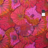 Kaffe Fassett GP29 Lotus Leaf Wine Cotton Fabric By Yd