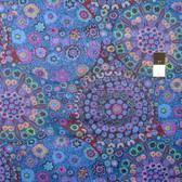 Kaffe Fassett GP92 Millefiore Blue Cotton Fabric By The Yard