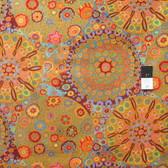 Kaffe Fassett PWGP92 Millefiore Orange Cotton Fabric By The Yard