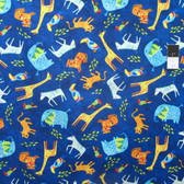 Timeless Treasures C4603 Fun Blue Juvenile Safari Cotton Quilting Fabric By Yard