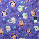 Springs Creative Disney Frozen Sisters Ice Skating Lt. Blu Cotton Fabric By Yard
