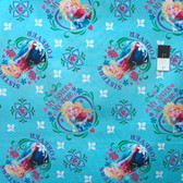 Springs Creative Disney Frozen Sisters Forever Blue Cotton Fabric By Yard