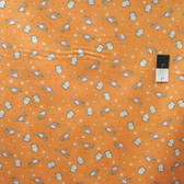 Timeless Treasures C4473 Owls Orange Cotton Quilting Fabric By Yard