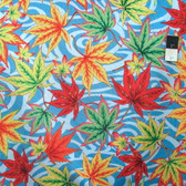 Philip Jacobs PWPJ080 Maple Stream Blue Cotton Fabric By Yard