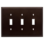 Simple Step W35318-CO Cocoa Bronze Triple Switch Cover Plate