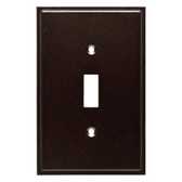 Simple Step W35310-CO Cocoa Bronze Single Switch Cover Plate