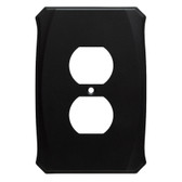 Brainerd Serene W34473-FB Flat Black Single Duplex Cover Plate