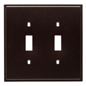 W35313-CO Simple Step Cocoa Bronze Double Switch Cover Wall Plate