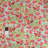 Tula Pink PWTP071 Eden Lotus Tomato Cotton Fabric By Yard