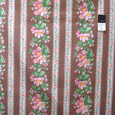 Verna Mosquera PWVM115 Snapshot Blooming Border Stripe Sepia Cotton Fabric By Yd