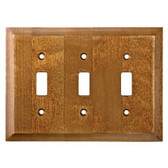 W29452-DCL Caramel Wood Huntsfield Triple Switch Cover