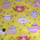 Dena Designs PWDF182 Tiddlywink​s Teatime Yellow Cotton Fabric By Yard
