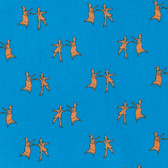 Kathy Doughty Folk Art Revolution Line Dancing Contemporary Cotton Fabric By Yd