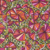 Kathy Doughty Folk Art Revolution Wagon Wheels Traditional Cotton Fabric By Yd