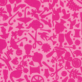 Kaffe Fassett GP119 Folk Art Pink Cotton Fabric By The Yard
