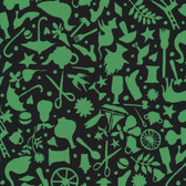 Kaffe Fassett GP119 Folk Art Black Cotton Fabric By The Yard