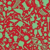 Kaffe Fassett GP119 Folk Art Red Cotton Fabric By The Yard