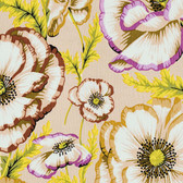 Philip Jacobs PWPJ059 Banded Poppy Taupe Cotton Quilting Fabric By Yard