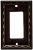 Brainerd 64405 Venetian Bronze Beaded Single GFCI Cover Plate