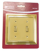 Liberty W062ZMC-PB Polished Brass Architect Double Switch Cover Plate