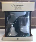 Decor Bathware Crystalline Collection Chrome Frosted Glass Bath Tumbler & Holder