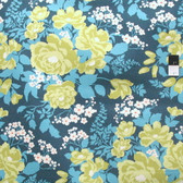 Joel Dewberry Flora Rose Bouquet Eucalyptus Cotton HOME DECOR Sateen Fabric