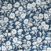 Valori Wells SAVW025 Novella Peony Indigo Sateen Home Decor Fabric By The Yard