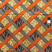African Tribal Branches Print T-5050 Polished Cotton Fabric By The Yard