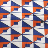 African Tribal Triangles Print T-5009 Polished Cotton Fabric By The Yard