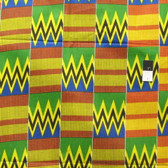 African Tribal Kente Print T-5008 Polished Cotton Fabric By The Yard