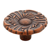 "Liberty P74580-CPS 1 1/2"" Sponged Copper Provincial Cabinet & Drawer Knob"