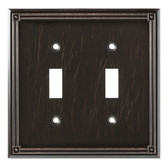 W16045-VBR Ruston Venetian Bronze Double Switch Wall Cover Plate