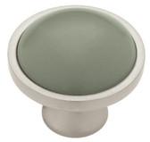"Liberty PBF454Y-SAG 1 3/8"" Sage Ceramic & Satin Nickel Cabinet Drawer Knob"