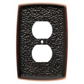 Liberty144035 Hammered Bronze & Copper Single Duplex Outlet Cover Plate