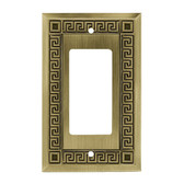 W117ZMC-SBA Antique Bronze Greek Key Single GFCI Cover Plate