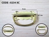 "Brainerd 0234XC 1 3/8"" x 3 1/2"" Chest Handles Brass Plated 2 Pack"