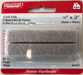 "Brainerd 464XC 1/2"" x 3"" Felt Pads Beige 4 Pack"
