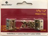 "Brainerd 6075XC 3/4"" x 11/16"" Narrow Hinge Solid Brass 4 Pack"