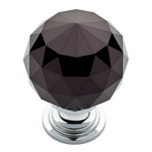 "Liberty P30779W-264 1 3/16"" Black Faceted Acrylic Polished Chrome Drawer Knob"