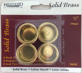 "Brainerd 900XC 3/4"" Flush Finger Pull Solid Brass 4 Pack"