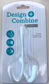 "Design + Combine BPTRIH-W 2 1/4"" Cantilever Tri-Hook Snap Lock White"