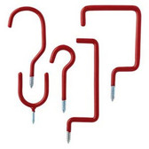 Arrow 160391 10 Piece Red Vinyl Coated Storage Utility Hooks