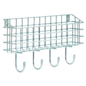 "Franklin Brass FBWMAIL4-ZP 15 3/4"" Wire 4 Hook Wire Mail Holder"