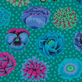 Kaffe Fassett PWGP0091 Big Blooms Emerald Cotton Quilting Fabric By The Yard