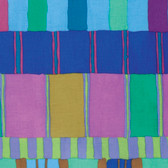 Kaffe Fassett PWKF003 Artisan Layered Stripe Blue Cotton Fabric By The Yard
