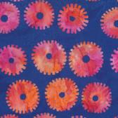 Kaffe Fassett BKKF001 Artisan Batik Saw Circles Royal Cotton Fabric By The Yard
