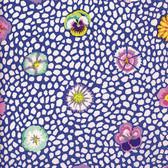 Kaffe Fassett PWGP059 Guinea Flower Blue Cotton Fabric By The Yard