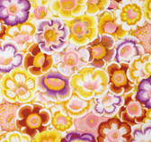 Philip Jacobs PWPJ071 Gloxinias Golden Cotton Quilting Fabric By Yard