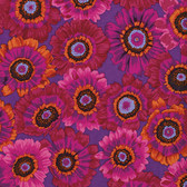 Philip Jacobs PwPJ057 Painted Daisy Magenta Cotton Quilting Fabric By Yard
