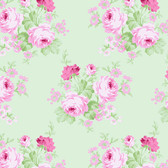 Tanya Whelan PWTW144 Charlotte Wild Bouquet Green Cotton Quilting Fabric By Yd